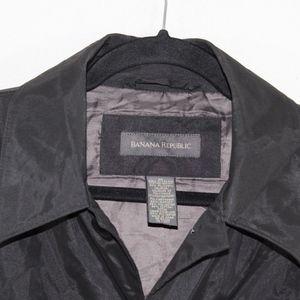 Banana Republic Jackets & Coats - Banana Republic Full Button Rain Trench Coat Black